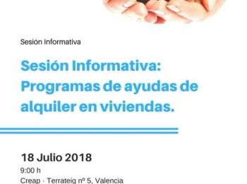 Sesión informativa de ayudas para alquiler de viviendas 2018